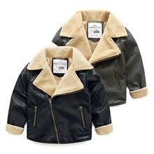 Зимняя теплая Модная Черная куртка на молнии из искусственной