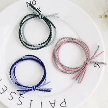 5Pcs/set Simple Colorful Hair Rubber Bands For Baby Girls Quietly Elegant Band Women High Elastic Hairbands Child