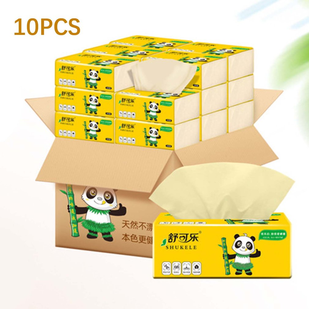 10 Packs Of Natural Paper Towels Portable Bamboo Pulp Toilet Paper For Mothers And Babies Portable Set