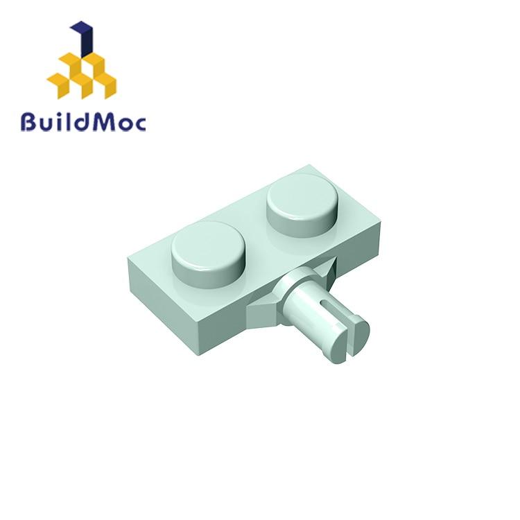 BuildMOC Compatible Assembles Particles 21445 Plate Modified 1x2 For Building Blocks Parts DIY Educational Gift Toys