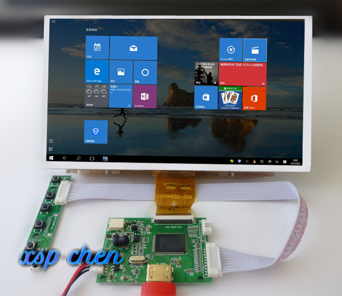 9 inches 1024*600 IPS Screen Display LCD TFT Monitor with Remote Driver Control <font><b>Board</b></font> HDMI for <font><b>Orange</b></font> Raspberry <font><b>Pi</b></font> <font><b>3</b></font> image