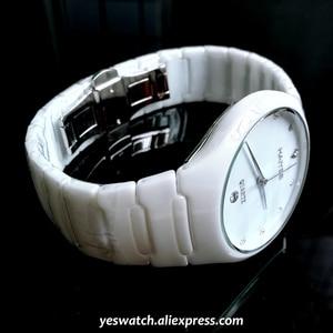 Image 2 - HAIYES Black Ceramic Men Watches Top Brand Luxury Simple Crystal Quartz Watches Men Relogio masculino