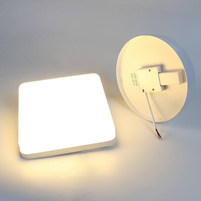 <font><b>LED</b></font> Ceiling Light Kitchen Bedroom Corridor Lighting Ceiling <font><b>Lamp</b></font> Round/Square 18W/<font><b>24W</b></font>/36W/48W Matte Surface Lampshade AC90-260V image