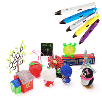 High-Tech 3D Pen Original DIY 3D Printing Pen Kids Toys Creative Toy Gift For Kids Design Improve Practical Skill 3D Pens 3d printing pen creative toy brush three dimensional graffiti low temperature wireless gift