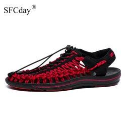 NOVO 2019 Da Marca Tecer Seaside Praia Sapatos Sandálias de Verão Homens Sapatos de Design de Moda Homens Sandálias de Qualidade Sapatos Casuais Confortáveis