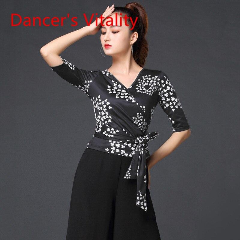 Ballroom Dancing Costume New Female Adult National Standard Dance Shirt Latin Dance Wear Modern Dance Performance Clothes