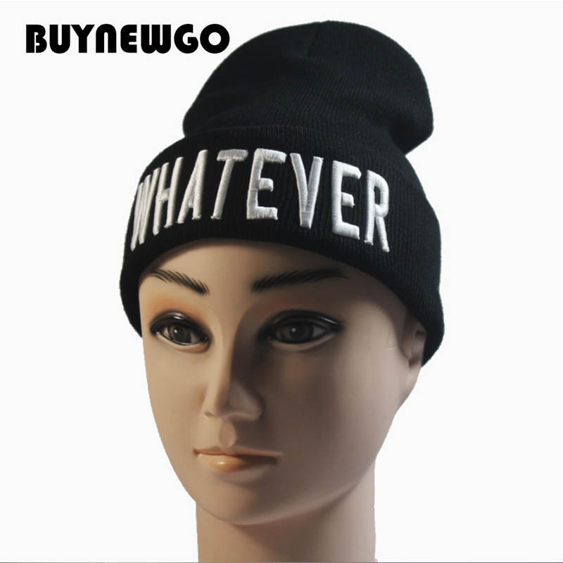 Pullover Cap Knit-Cap Wool-Caps Embroidery High-Quality New Letter WHATEVER Best-Selling