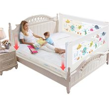 Kids Bedding Bumpers Baby Crib Bedclothes Vertical Elevation Safety Precautions Baby Playpens for 1.2/1.5/1.8/2m Bed Guardrail