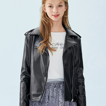 Semir Leather Jacket female 2019 spring and autumn new leather jacket