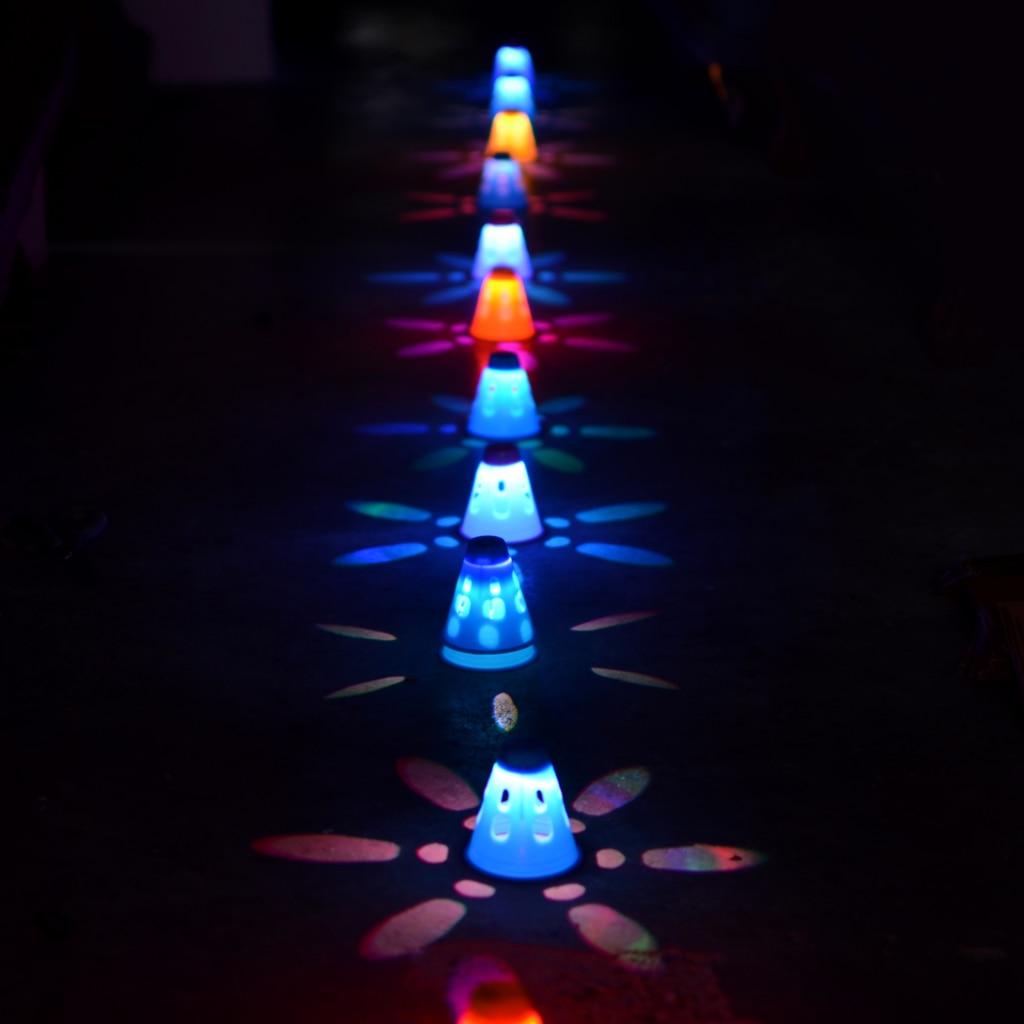 10 Pieces/Pack Luminous Inline Roller Skating Skateboard Sport Cones Pile Cups Roadblocks 3 Color Options
