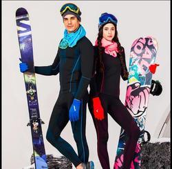 Gratis Verzending, Brand Nieuwe Functionele Winter Ondergoed Set, Heathy. naadloze Fitness Zacht Warm. thermisch Ondergoed Set Bamboe