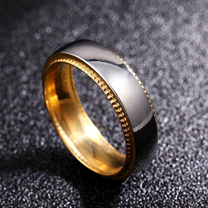 6 mm titano žiedų poros žiedas vyrams ir moterims. Individualus žiedas, pritaikytas išgraviruotam žiedui