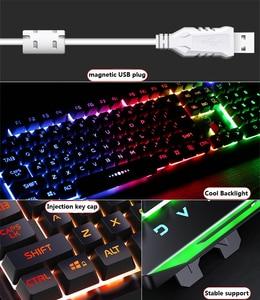 Image 4 - Gaming Keyboard Gaming Mouse Mechanical Feeling RGB LED Backlit Gamer Keyboards USB Wired Keyboard for Game PC Laptop Computer