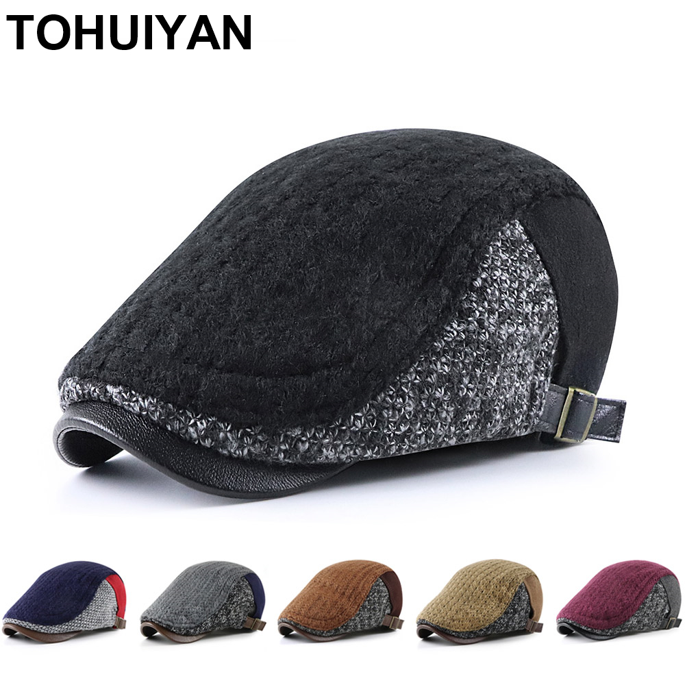 2021 Retro Knitted Man Hat Casual Boina Hombre Newsboy Caps Winter Autumn Warm Cabbie Hats Drivers Branded Flat Cap for Women