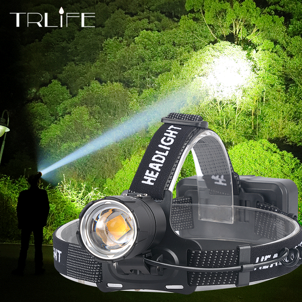 XHP70.2 Led Headlamp USB Rechargeable XHP70 White Yellow Headlight Bright Hunting Cycling Waterproof Lamp Use 3x18650