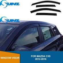 Seite Fenster Deflektor Für Mazda CX5 2012 2013 2014 2015 2016 Schwarz Acryl Fenster Visier Wetter Shields Sonne Regen Wachen SUNZ