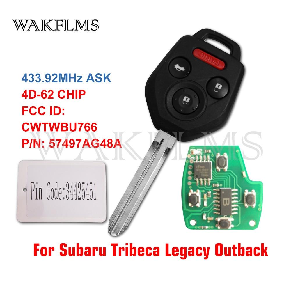 SUBARU OEM 2009 Tribeca Keyless Entry Key Fob Remote-Transmitter 57497AG48A
