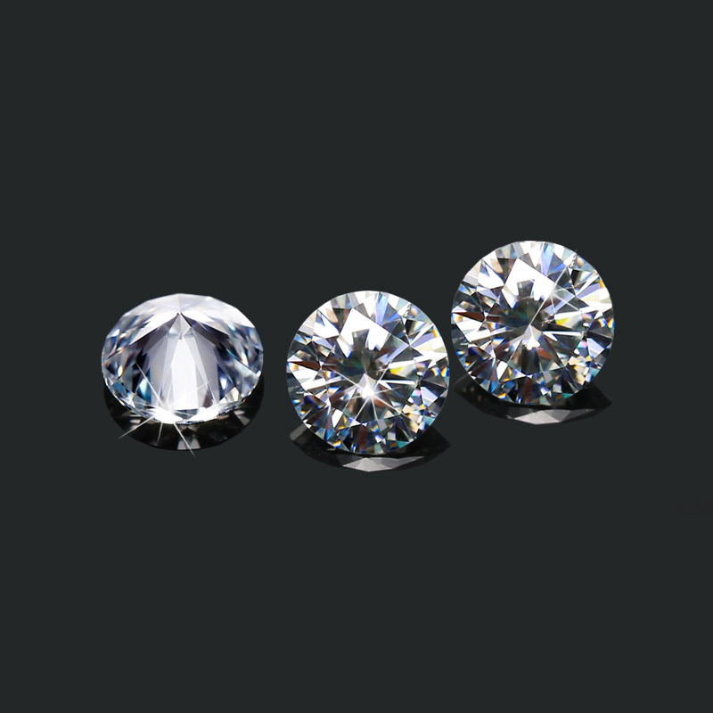 BOEYCJR 0.3ct 4mm D Color Round Brilliant Cut 5mm Moissanite Loose Stone VVS1 Excellent Cut 3E Grade Jewelry Making Stone 3