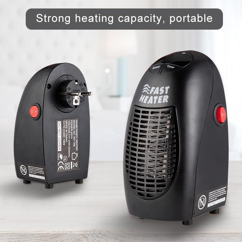 400W Mini Fan Heater Wall Mounted Electric Heater Stove Radiator Warmer Household Room Heating Fan Machine for Winter 1
