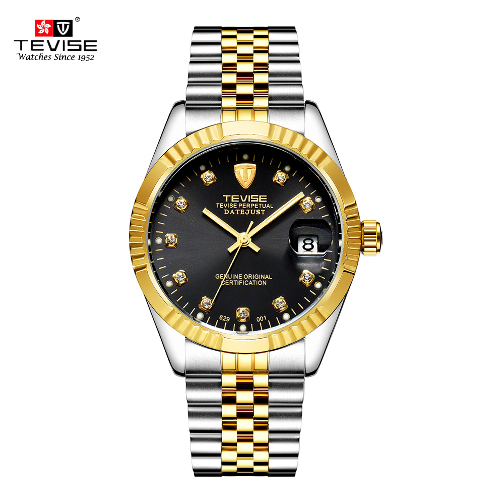 TEVISE Mechanical Watch Luxury Waterproof  Stainless Luminous Auto Date Fashion Business Automatic Men Watch 2019 Relogio