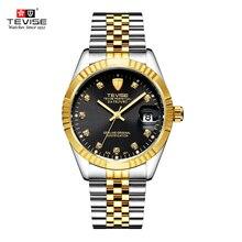 TEVISE Mechanical Watch Luxury Waterproof Stainless Luminous Auto Date Fashion B