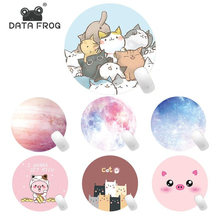 Data Frog Computer Mouse Pad Thicken Cartoon Keyboard Mousepad Comfortable Round Desk Pad Cute Mouse Pad Kawaii Desk Accessories