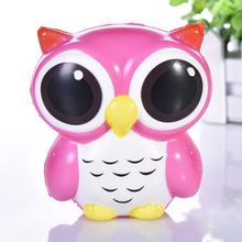 Kids Cute Simulation Animal PU Squishy Slow Rising Simulation Squeeze Decompression Owl Squeeze Toy for Adult(China)