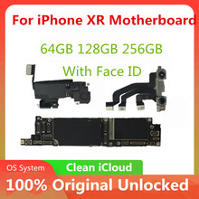 Unlocked Moederbord Voor Iphone Xr Moederbord Met/Zonder Gezicht Id Moederbord Met Ios Systeem Geen Icloud Volledige Getest