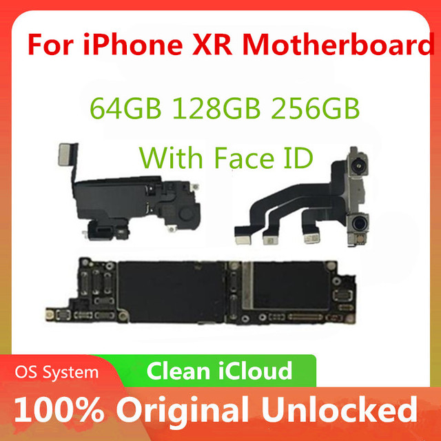 Unlocked Motherboard For iPhone XR Motherboard With / Without  Face ID Motherboard With IOS System No iCLoud Full Tested