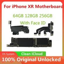 Unlocked anakart için iPhone XR anakart ile/olmadan yüz kimliği anakart IOS sistemi ile hiçbir iCLoud tam test