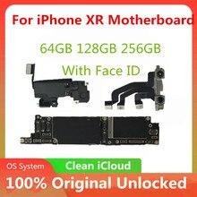 اللوحة الأم مقفلة آيفون اللوحة الأم XR مع/بدون اللوحة الأم معرف الوجه مع نظام IOS لا iCLoud اختبارها بالكامل