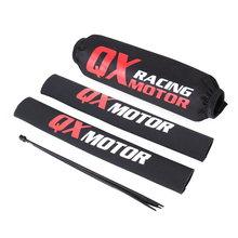35cm przedni widelec Protector + tylny amortyzator osłona pokrowiec owijający dla CRF YZF KLX motor terenowy motocykl ATV Quad Motocross