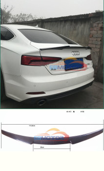 Car-Styling Carbon Fiber / FRP Auto Racing Rear Trunk Spoiler Boot Lip Wing for Audi A5 S5 Sline Sedan 4-Door 2012-2016 A105 1