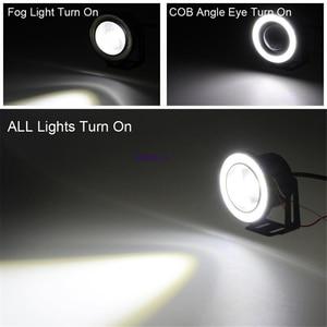 "Image 2 - 2pcs Angel Eyes Fog Lamp  3.0"" 76mm  12V Universal COB LED DRL Driving Lights white blue pink yellow green red"