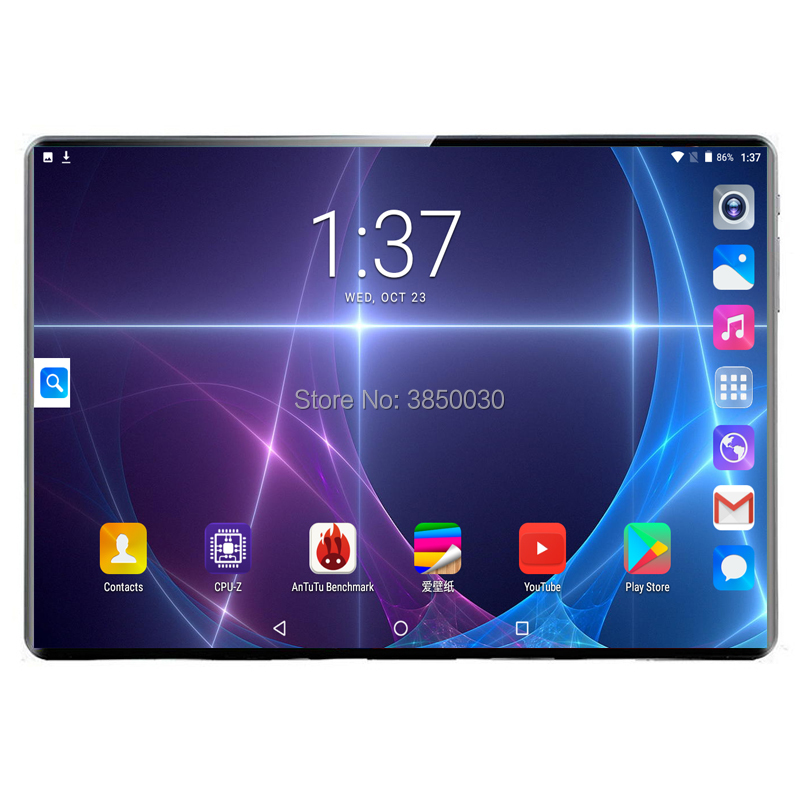 2.5D 10 8G RAM 128G ROM Tela polegada 3G/4G LTE Dual SIM Tablet pc android 9.0 Tablets PC do Núcleo Deca 8MP GPS WI-FI Bluetooth 10.1