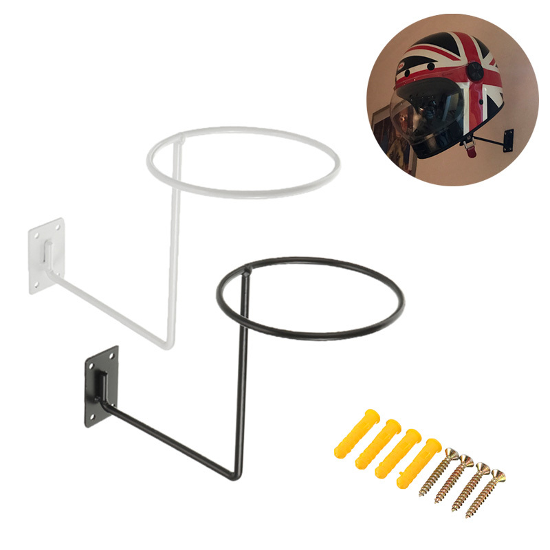 Motorcycle Steel Helmet Wall Hanger Holder Hook Multifunctional Rack for Raincoat Coat Balls Moto Scooter Accessories