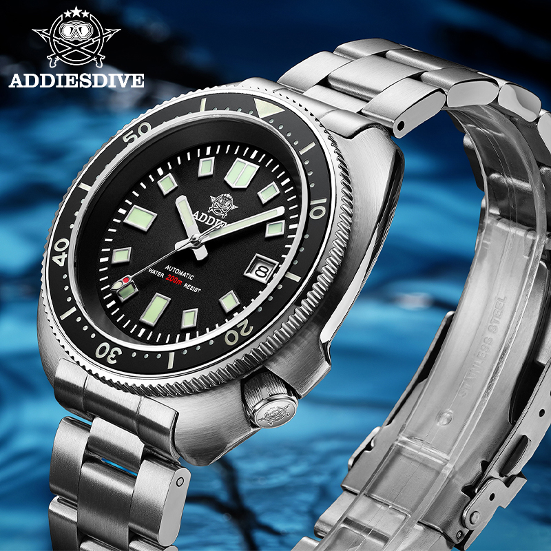 1970 Abalone 200m Diver Watch Sapphire crystal calendar NH35 Automatic Mechanical Steel diving Men's watch 3
