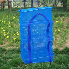 Foldable 4 Layers Drying Fishing Net Rack Hanging Vegetable Fish Dishes Dryer PE Hanger Fish Fishing Net Fishing Accessories