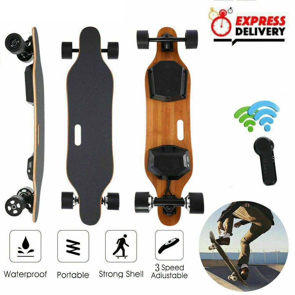 Electric Scooter 4 Wheel Electric Scooters Dual Hub Motor Remote Longboard Electric Skateboard For Adults Kids