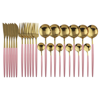 24Pcs Pink Gold