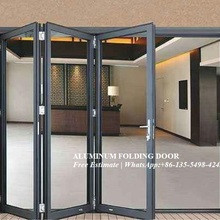 Внешний алюминиевый ламинированный Би-створчатая дверь/Складная Дверная панель, наружные разделители звукоизолированная двустворчатая дверь