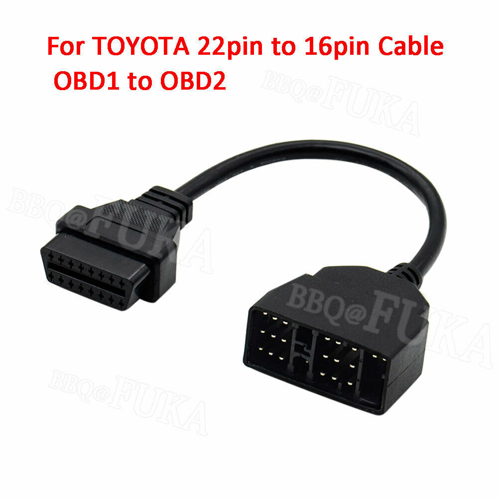 For <font><b>TOYOTA</b></font> Lexus <font><b>22pin</b></font> to 16pin Cable OBD1 to OBD2 Connect Cable Adapter Cable image