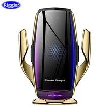 Purificador de ar do carro carregador sem fio qi braçadeira automática carga rápida montagem para huawei p30pro mate30 iphone11 xr xs max x