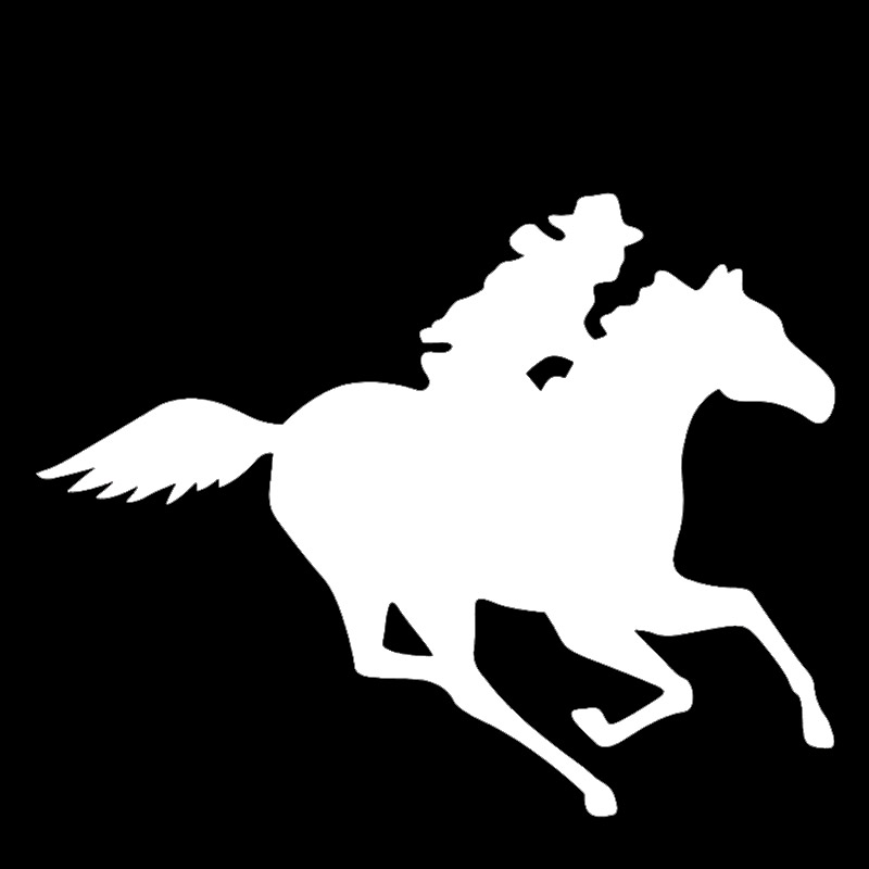 Handsom Cowboy Gallop Horse Silhouette Car <font><b>StIcker</b></font> <font><b>Motorhome</b></font> Truck Motorcycles Car Styling Reflective Vinyl <font><b>Decal</b></font> 8 Colors image