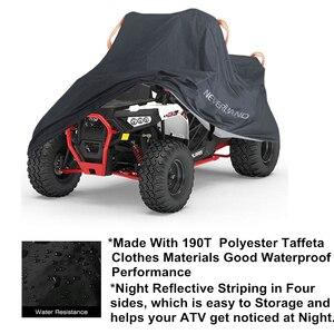 Image 3 - 190T مقاوم للماء المطر برهان الغبار المضادة للأشعة فوق البنفسجية الشاطئ دراجة رباعية ATV حافظة لدراجة نارية بولاريس يغطي م L XL XXL XXXL D20