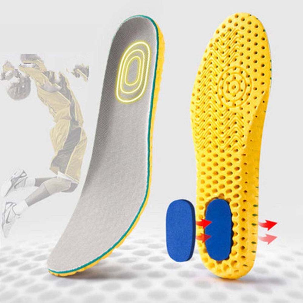 Sports Shock Insole Stretch Breathable Deodorant Running Cushion Breathable Sweat Men And Women Insoles For Sneakers Memory Foam