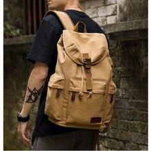 Mochila de lona TANGHAO, mochila informal Vintage Unisex para ordenador portátil de 14 pulgadas, mochila escolar con puerto de carga USB, mochila para estudiante
