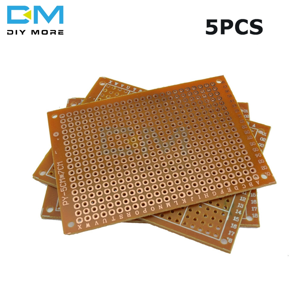 5PCS Universal PCB Board 5 X 7 Cm 2.54mm DIY Prototype Paper Printed Circuit Panel 5x7cm 50x70mm 5x7