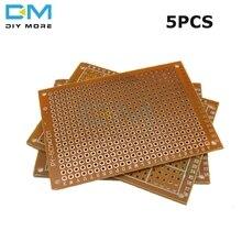 5PCS Universal PCB Board 5 x 7 cm 2.54mm DIY Prototype Paper Printed Circuit Panel 5x7cm 50x70mm 5x7