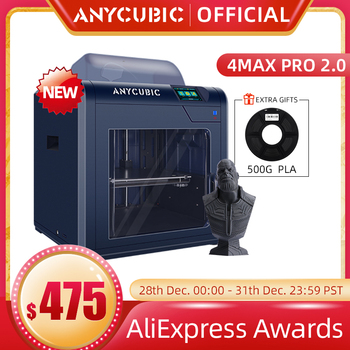 ANYCUBIC-Impresora 3D ANYCUBIC 4Max Pro 2,0, FDM, impresión en 3D de gran...